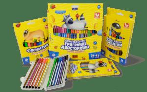 олівці Школярик, воскові олівці. акварельні олівці фломастери гуртом, карандаши Школярик